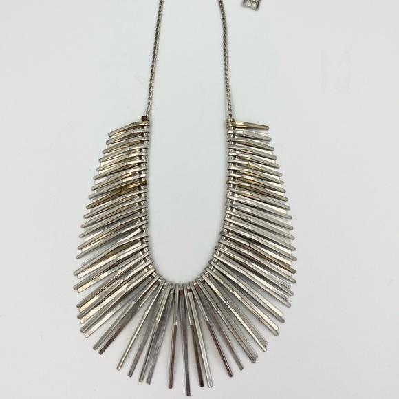BCBG MaxAzria Silver Spike Necklace